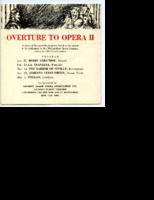 [Program] Overture to Opera II: A series of five monthly programs to be performed by the Metropolitan Opera Company during its 1963 Detroit season