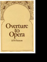 [Program] Overture to Opera, 1970 Season: David DiChiera, General Director presents Giocchino Rossini's The Barber of Seville (In English), Sponsored by the Detroit Grand Opera Association in cooperation with Oakland University, University Center for Adult Education, University of Michigan Extension Service