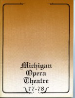 [Program] Michigan Opera Theatre: 1977-78