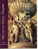 [Program] Michigan Opera Theatre, 1996 Fall Season: at the Detroit Opera House