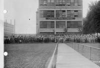 Chalmers Motor Company Factory with Group in Front
