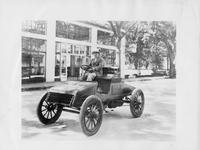 "1903 Packard Model F ""Old Pacific"" in front of Packard dealership"