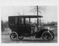 1906 Packard 24 Model S landaulet on street with enclosed backseat