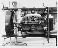 1907 Packard 30 Model U engine mounted on chassis