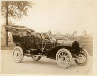 1907 Packard 30 Model U touring car with folding top, three-quarter front view