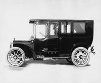 1908 Packard 30 Model UA limousine with side curtains enclosing driving compartment