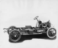 1909 Packard 30 Model UB bare chassis, right side view