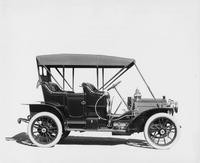 1909 Packard 18 Model NA close-coupled with top raised, right side view