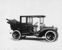 1909 Packard 30 Model UB landaulet, right side back quarter collapsed