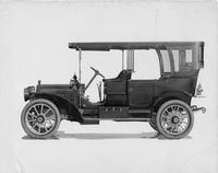 1909 Packard 30 Model UB touring car fitted with canopy roof, left side