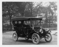 1909 Packard 18 Model NA touring car, in front of house, near Charlevoix St.