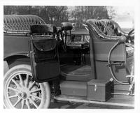 1910 Packard 30 Model UC tonneau interior detail