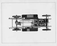 1910 Packard 30 Model UC chassis, top view