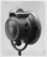 1910 Packard solar headlamp housing, three-quarter rear view, right side
