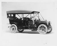1910 Packard 30 Model UC touring car, three-quarter front view, right side, top raised