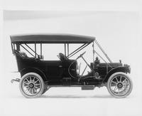 1910 Packard 30 Model UC touring car, right side view, top raised