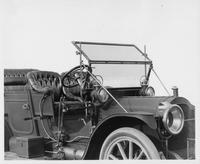 1910 Packard 30 Model UC touring car, windshield detail