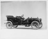 1910 Packard 30 Model UC phaeton, three-quarter front view, right side