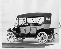 1911 Packard 18 Model NC two-toned touring car, three-quarter rear view, left side