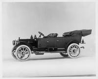 1911 Packard 30 Model UD touring car, five-sixth front view, left side, top lowered