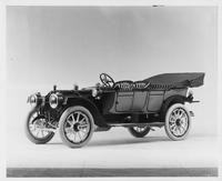 1911 Packard 30 Model UD phaeton, three-quarter front view, left side, top lowered