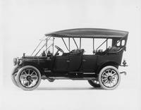 1912 Packard 30 Model UE touring car, standard top raised, left side