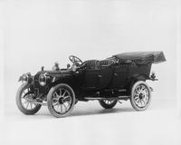 1912 Packard 30 Model UE touring car, three-quarter front view, left side, top lowered