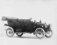 1912 Packard 18 Model NE open car, five-sixth front view, right side, top lowered