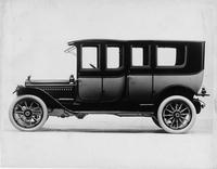 1913 Packard 48 two-toned imperial limousine, left side view, fore-doors