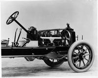 1913 Packard 48 engine, three-quarter rear view, right side