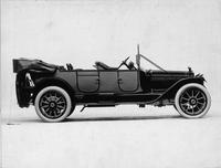 1914 Packard 2-38 two-toned touring car, right side, top folded