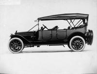 1914 Packard 2-38 touring car, left side, top raised