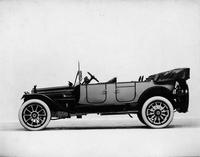 1914 Packard 2-38 two-toned salon touring car, left side, top folded