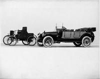 1914 Packard 2-38 salon touring car, with 1899 Packard Model A