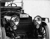 1914 Packard 2-38 standard touring car, close up of front headlamps