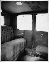 1914 Packard 2-38 brougham, right side view of rear interior