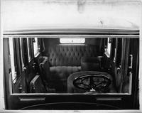1914 Packard 2-38 salon limousine, front view of interior through windshield