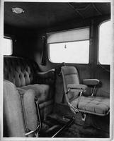 1914 Packard 2-38 salon limousine, right side view of rear interior