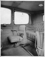 1914 Packard 48 limousine, left side view of rear interior