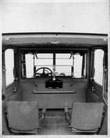 1914 Packard 48 landaulet, view of interior through the opened back quarter