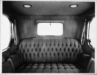 1916 Packard 1-35 limousine, full view of back seat, interior