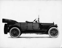 1917 Packard two-toned touring car, right side, top lowered