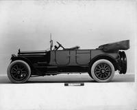 1917 Packard two-toned touring car, left side, top lowered