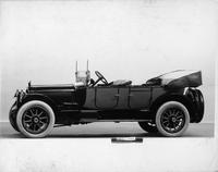 1917 Packard two-toned phaeton, seven-eights left side front view, top lowered