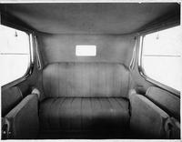 1917 Packard cab-side landaulet, rear interior, with folding side auxiliary seats