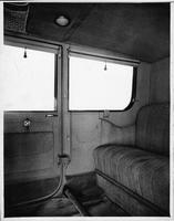 1917 Packard landaulet, view of rear interior from right side door