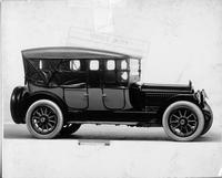 1917 Packard two-toned salon phaeton, top raised, side curtains in place, seven-eights right front view