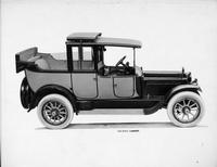 1917 Packard two-toned landaulet, back quarter collapsed, right elevation tilted up