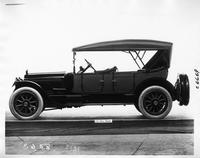 1917 Packard two-toned phaeton, left side view, top raised