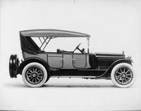 1917 Packard two-toned phaeton, right front view, top raised